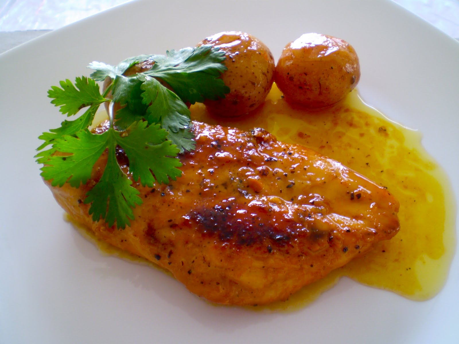Pollo miel saz n del coraz n - Salsa para pollos asados ...