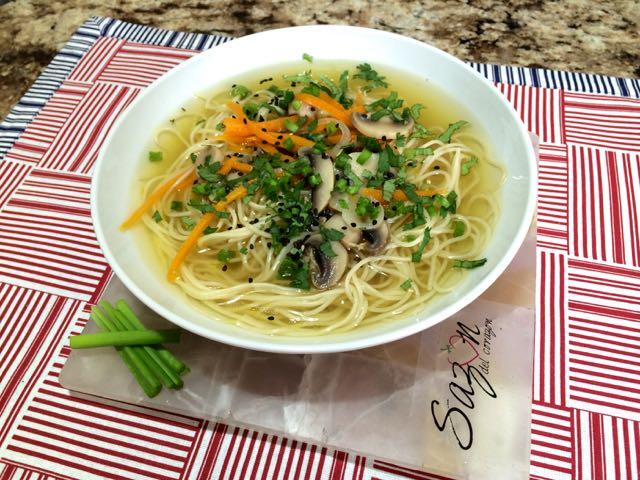 sopa estilo oriental