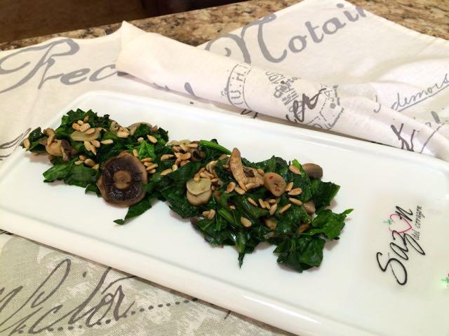 espinacas con champis