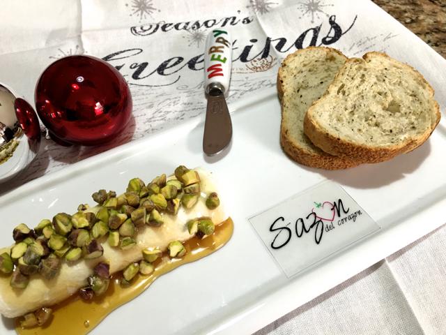 queso con pistaches