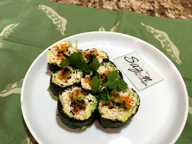 Sushi de pollo