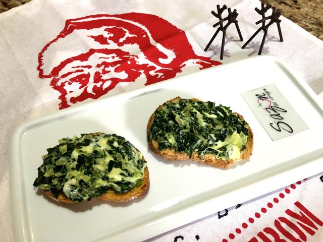 tapas de espinacas con queso