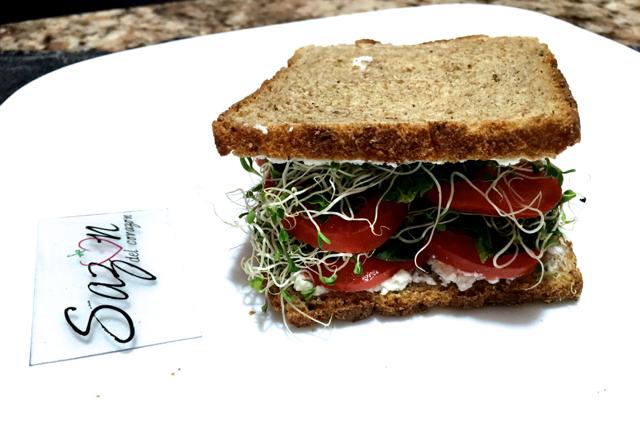 sandwich de jitomate